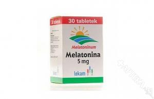 Melatonina 5mg, 30 tabletek