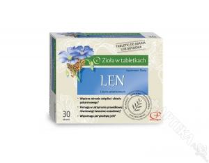 Len, zioła w tabletkach, 60 tabletek do ssania