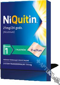 Niquitin, 21mg/24h (stopień 1), 7 plastrów transdermalnych