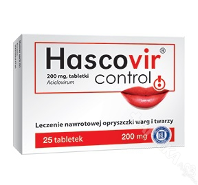 Hascovir Control 200mg, 25 tabletek