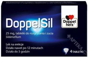 DoppelSil 25mg, 4 tabletki do rozgryzania i żucia