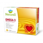 Naturell, Omega-3, 120 kapsułek