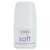 Ziaja Soft, antyperspirant w kremie, roll-on, 60ml