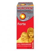 Nurofen dla dzieci Forte, zawiesina, smak truskawkowy, 150ml