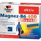 Doppelherz Aktiv, Magnez-B6 Ultra FAST, 20 saszetek