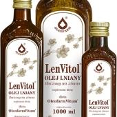 LenVitol olej lniany, tłoczony na zimno, 500ml