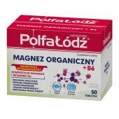 Magnez Organiczny + B6, 50 tabletek