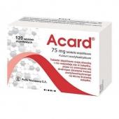 Acard 75mg, 120 tabletek dojelitowych