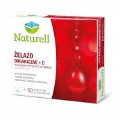 Naturell, Żelazo organiczne + C, 60 tabletek