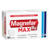 Magnefar B6 MAX, 50 tabletek