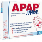 Apap Junior, granulat 250mg, 10 saszetek