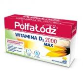 Witamina D3 2000 MAX Polfa Łódź, 60 kapsułek