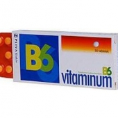 Vitaminum B6, 50mg, 50 tabletek