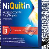 Niquitin, 7mg/24h (stopień 3), 7 plastrów transdermalnych