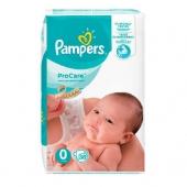 Pampers Pro Care 0, 38 sztuk