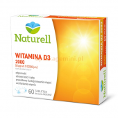 NATURELL Witamina D3 2000, 60 tabletek + 60 tabletek gratis