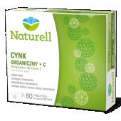 Naturell, Cynk organiczny +C, 60 tabletek