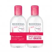 BIODERMA SENSIBIO H2O, płyn micelarny do oczyszczania twarzy i zmywania makijażu, 2x 250 ml
