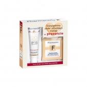 Pharmaceris F Zestaw Fluid do cery naczynkowej (20 NUDE) +  puder transparentny GRATIS