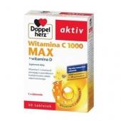 Doppelherz aktiv Witamina C 1000 Max + Witamina D, 30 tabletek