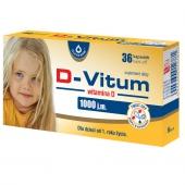 D-Vitum, witamina D dla dzieci 1000j.m., 36 kapsułek twist-off