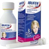 Ibufen Forte, zawiesina dla dzieci, smak malinowy, 100ml