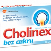 Cholinex bez cukru 150mg, 16 pastylek do ssania