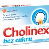 Cholinex bez cukru 150mg, 16 pastylek do ssania