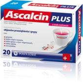 Ascalcin Plus Malinowy, 20 saszetek