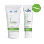 IWOSTIN Purritin Rehydrin, żel nawilżający do mycia twarzy, 150ml +  krem przywracający nawilżenie, 40ml