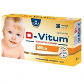 D-Vitum, witamina D dla niemowląt 600j.m., 36 kapsułek twist-off