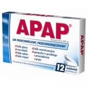 Apap, 12 tabletek