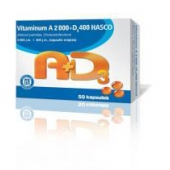 Vitaminum A+D3 Hasco, 2000j.m.+400j.m., 50 kapsułek