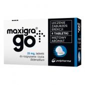 Maxigra Go 25mg, 4 tabletki do rozgryzania i żucia