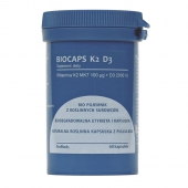 BIOCAPS K2 D3, 60 kapsułek