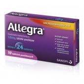 Allegra 120 mg, 10 tabletek
