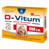 D-Vitum, witamina D dla niemowląt 800j.m., 36 kapsułek twist-off