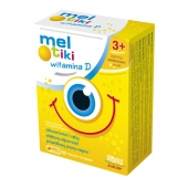 Mel-tiki witamina D, smak waniliowy, 60 tabletek do ssania
