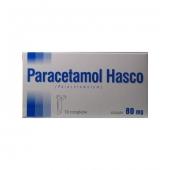 Paracetamol Hasco 80mg, 10 czopków