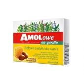 Amolowe na gardło z miodem i witaminą C, 16 pastylek