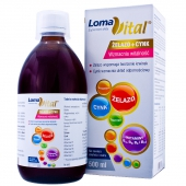 Loma Vital żelazo+cynk, płyn, 500ml