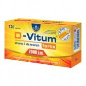 D-Vitum Forte 2000 j.m., 120 kapsułek