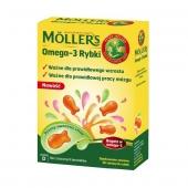 Tran Mollers Omega-3 Rybki, 36 sztuk