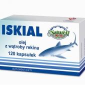 Iskial, olej z wątroby rekina, 120 kapsułek